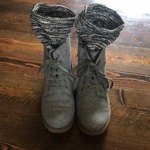 Rocket Dog Short Side Zipper Boots Women's 10